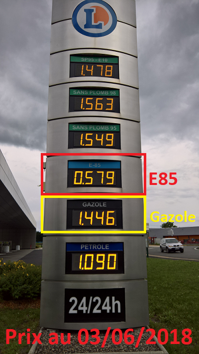 Prix E85